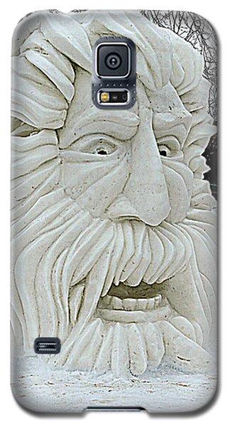 Old Man Winter Snow Sculpture Galaxy S5 Case