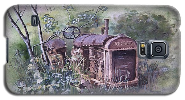 Galaxy S5 Case featuring the painting Old Mccormick Tractor by Susan Crossman Buscho