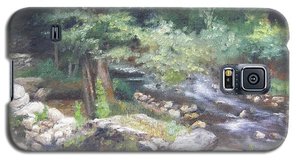 Galaxy S5 Case featuring the painting Old Mill Steam II by Lori Brackett