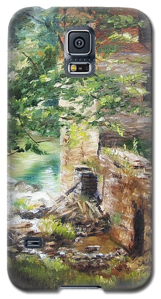 Galaxy S5 Case featuring the painting Old Mill Stream I by Lori Brackett