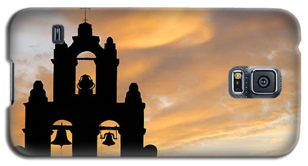 Old Mission Bells Against A Sunset Sky Galaxy S5 Case by Lincoln Rogers