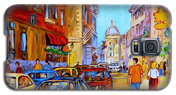 Galaxy S5 Case featuring the painting Old Montreal by Carole Spandau