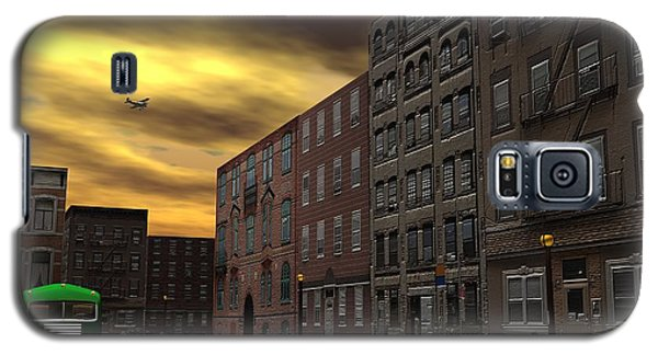 Galaxy S5 Case featuring the digital art Old New York by John Pangia