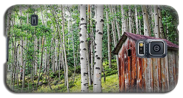 Old Outhouse Among Aspens Galaxy S5 Case by Lincoln Rogers