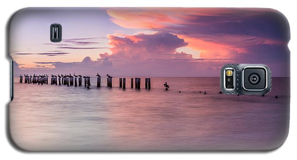 Old Naples Pier Sunset Galaxy S5 Case