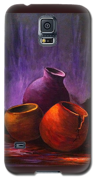 Galaxy S5 Case featuring the painting Old Pots 2 by Bozena Zajaczkowska