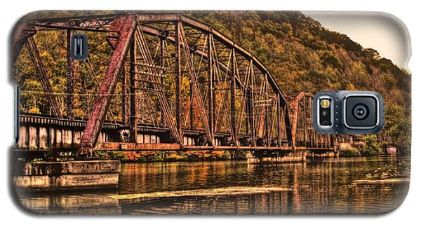 Galaxy S5 Case featuring the photograph Old Railroad Bridge With Sepia Tones by Jonny D
