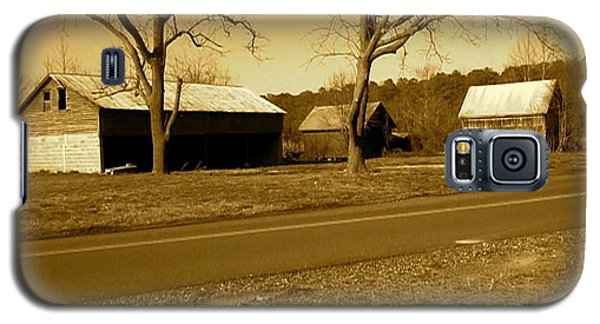 Old Red Barn In Sepia Galaxy S5 Case by Amazing Photographs AKA Christian Wilson