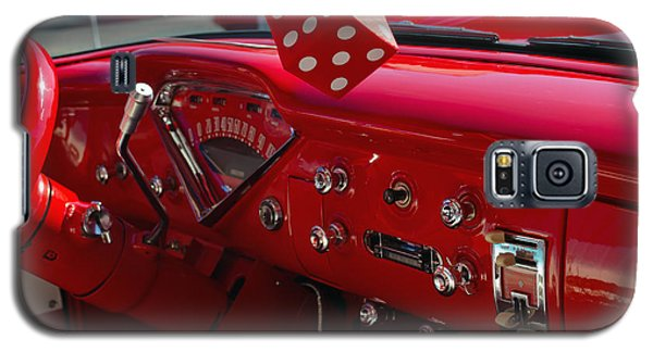 Galaxy S5 Case featuring the photograph Old Red Chevy Dash by Tikvah's Hope