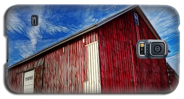 Galaxy S5 Case featuring the photograph Old Red Wooden Barn by Jim Lepard
