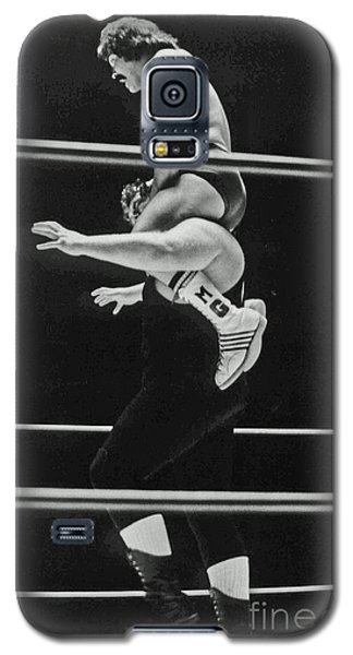 Galaxy S5 Case featuring the photograph Old School Wrestling Piggyback Ride II With Mando Guerrero  by Jim Fitzpatrick