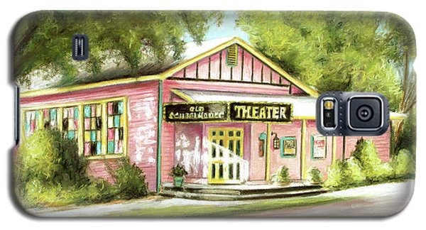 Galaxy S5 Case featuring the painting Old Schoolhouse Theater On Sanibel Island by Melinda Saminski