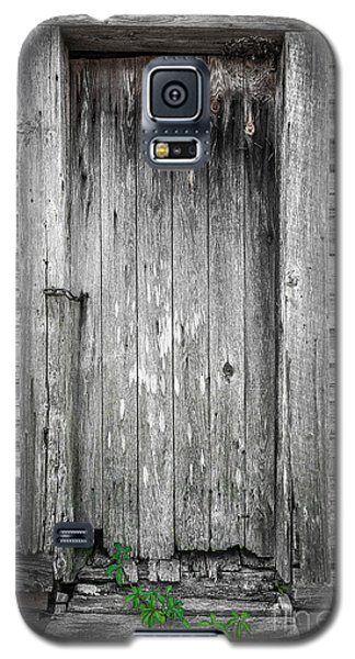 Galaxy S5 Case featuring the photograph Old Shed Door by Marion Johnson