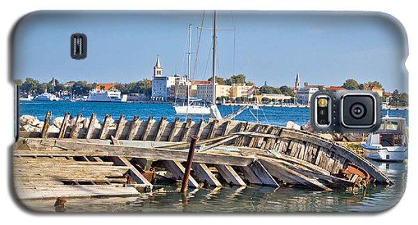 Old Sinked Wooden Ship In Zadar Galaxy S5 Case