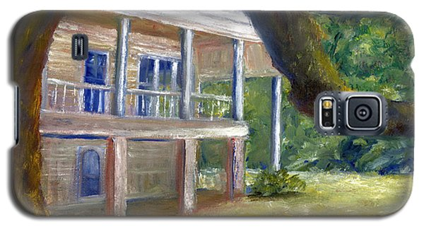 Galaxy S5 Case featuring the painting Old Southern Louisiana Mansion Plantation by Lenora  De Lude