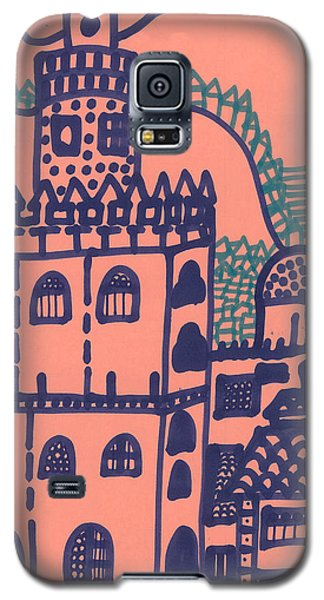 Galaxy S5 Case featuring the drawing Old Spanish Town by Don Koester