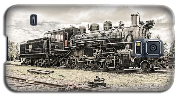 Galaxy S5 Case featuring the photograph Old Steam Locomotive No. 97 - Made In America by Gary Heller