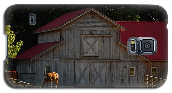 Galaxy S5 Case featuring the photograph Old-style Horse Barn by Jordan Blackstone