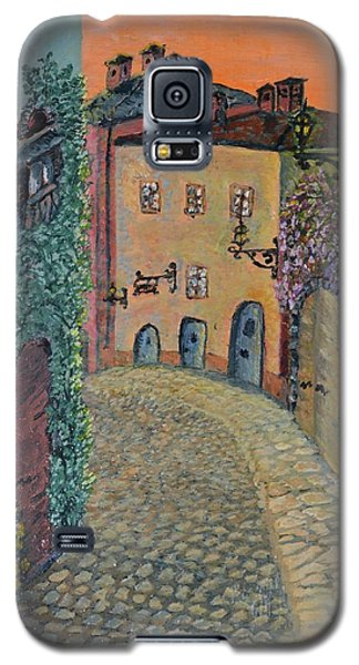 Galaxy S5 Case featuring the painting Old Town In Piedmont by Felicia Tica