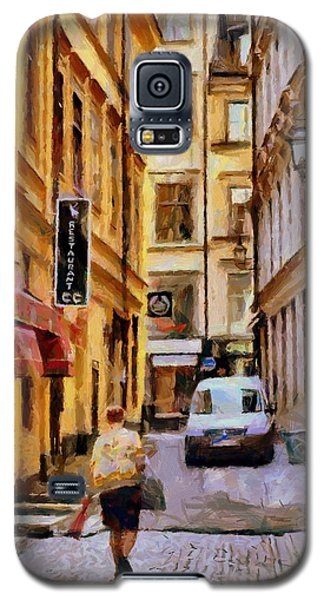 Galaxy S5 Case featuring the digital art Old Town Of Stockholm by Kai Saarto