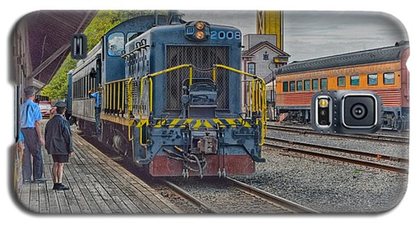 Galaxy S5 Case featuring the photograph Old Town Sacramento Railroad by Jim Thompson