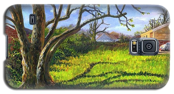 Galaxy S5 Case featuring the painting Old Tree In The Morning Of Early Spring by Ping Yan