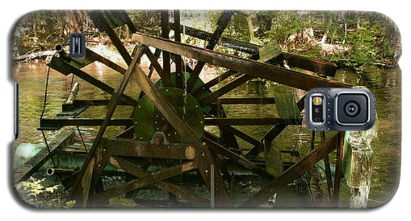 Galaxy S5 Case featuring the photograph Old Waterwheel by Cathy Harper
