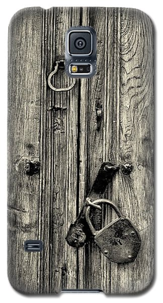 Old Weathered Door Galaxy S5 Case by Nicola Fiscarelli