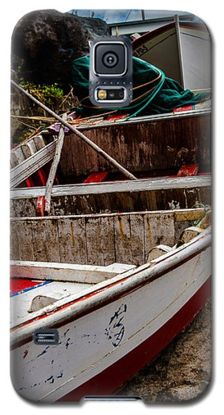 Old Wooden Fishing Boat On Dock  Galaxy S5 Case