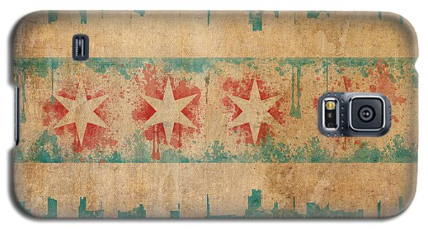 Old World Chicago Flag Galaxy S5 Case