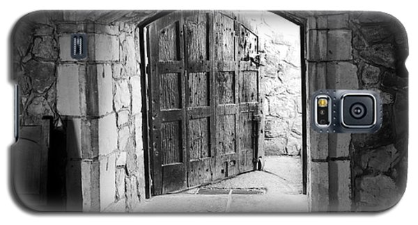 Galaxy S5 Case featuring the photograph Old World Door by Serene Maisey