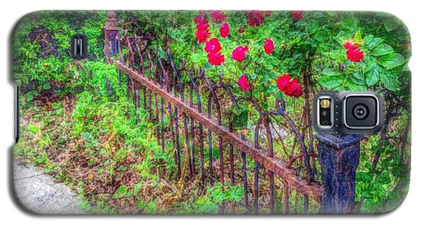Galaxy S5 Case featuring the photograph Old Wrought Iron Gate 2 by Becky Lupe