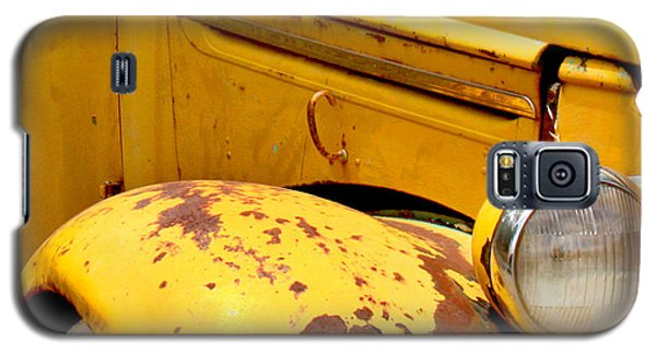 Transportation Galaxy S5 Case - Old Yellow Truck by Art Block Collections