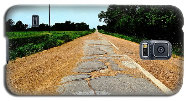 Galaxy S5 Case featuring the photograph Oldest Stretch Of Route 66 by Utopia Concepts