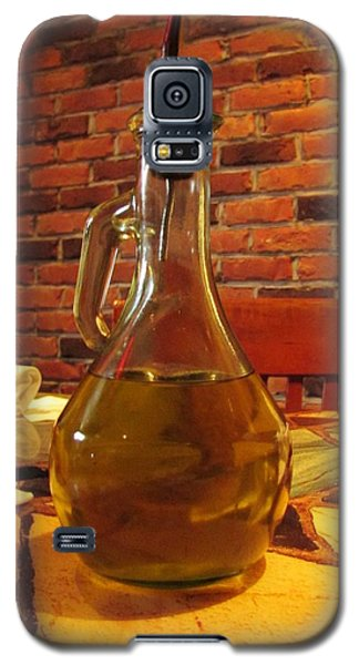 Galaxy S5 Case featuring the photograph Olive Oil On Table by Cynthia Guinn