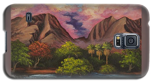 Galaxy S5 Case featuring the painting Olowalu Valley by Darice Machel McGuire