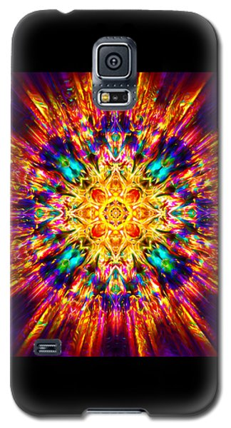 Galaxy S5 Case featuring the painting Om Mani Padme Hum by Jalai Lama
