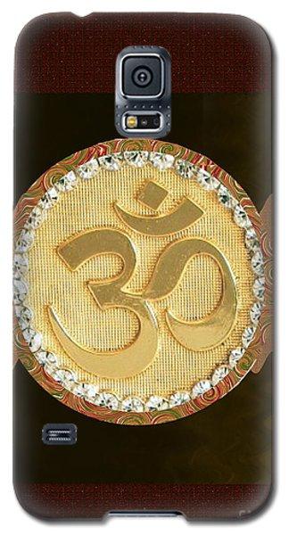 Om Mantra Ommantra Hinduism Symbol Sound Chant Religion Religious Genesis Temple Veda Gita Tantra Ya Galaxy S5 Case by Navin Joshi