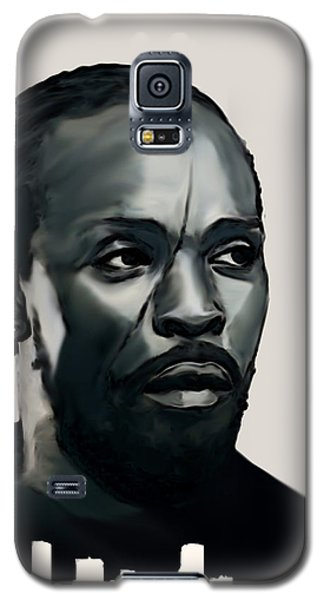 Galaxy S5 Case featuring the painting Omar Little by Jeff DOttavio