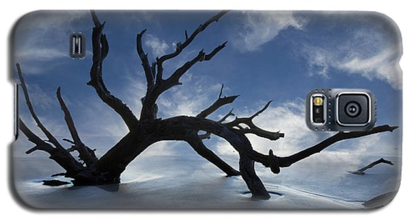 Galaxy S5 Case featuring the photograph On A Misty Morning by Debra and Dave Vanderlaan