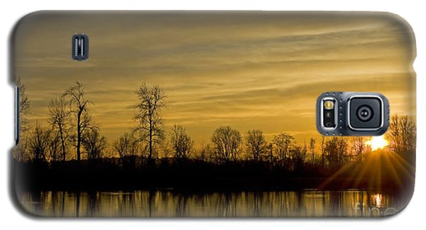 Galaxy S5 Case featuring the photograph On Golden Pond by Nick  Boren