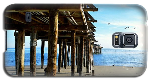 Galaxy S5 Case featuring the photograph On The Beach In Capitola by Alex King