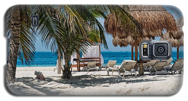 White Sandy Beach In Isla Mujeres Galaxy S5 Case