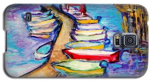 On The Boardwalk Galaxy S5 Case by Helena Bebirian