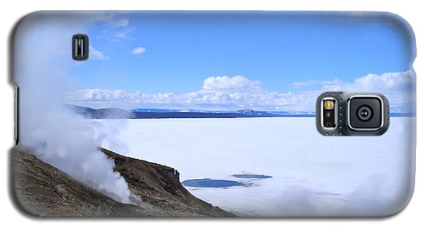 On The Edge Of Lake Yellowstone Galaxy S5 Case by Michele Myers
