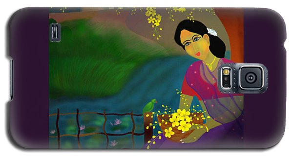 Galaxy S5 Case featuring the digital art On The Eve Of Golden Shower Festival by Latha Gokuldas Panicker