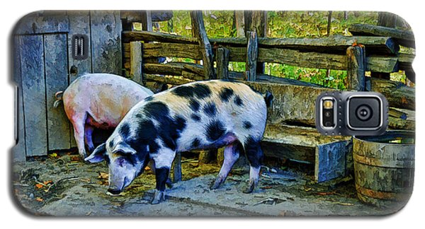 Galaxy S5 Case featuring the photograph On The Farm by Kenny Francis