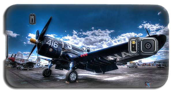 On The Flight Line.  F-4u Corsair At Reno Air Races Galaxy S5 Case