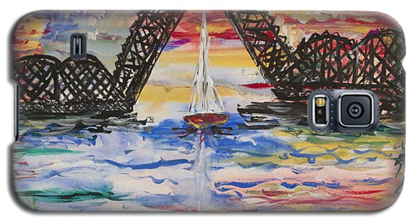 On The Hour. The Sailboat And The Steel Bridge Galaxy S5 Case