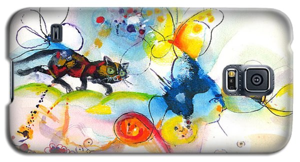 Galaxy S5 Case featuring the painting On The Prowl by Mary Armstrong